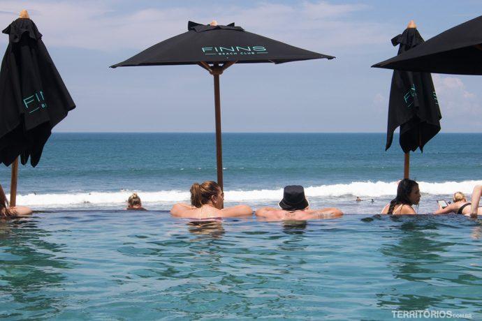 O que fazer em Bali: clube de praia
