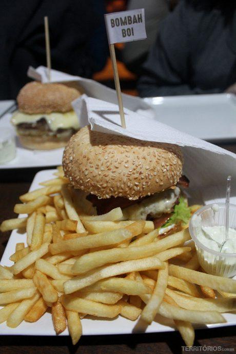 Bombah-Boi é um dos hambúrgueres mais pedidos