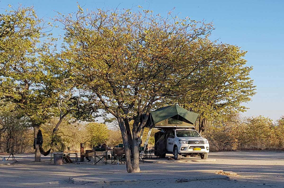 Camping na Namíbia