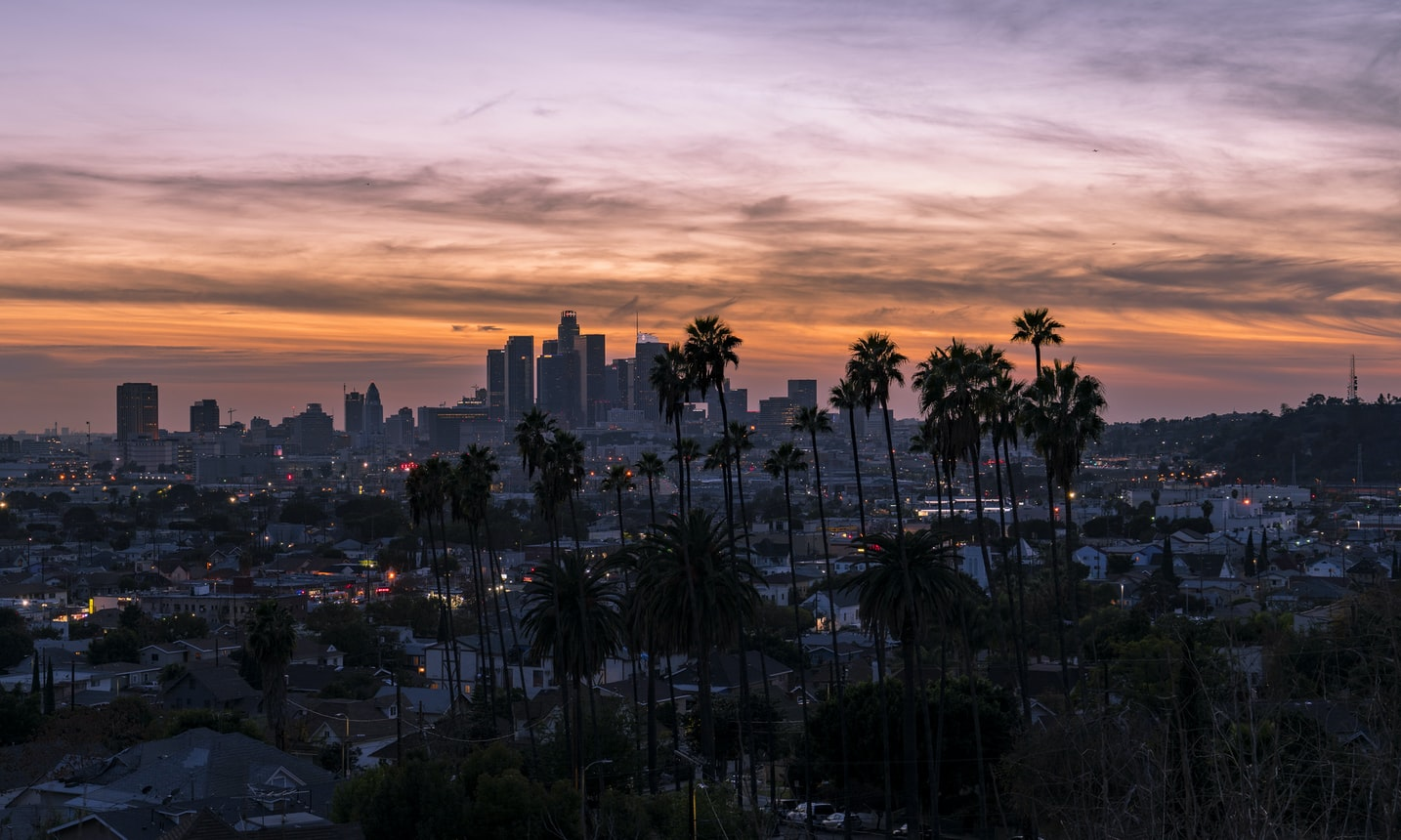 Pôr do sol em Los Angeles