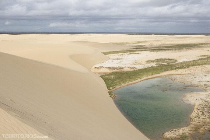 Dunas entre o mar e a Lagoa das Cangalhas