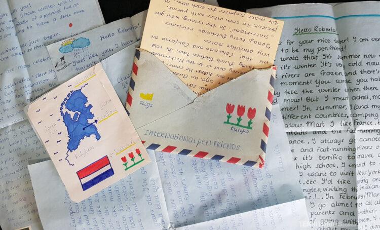 cartas recebidas por amigo por correspondência