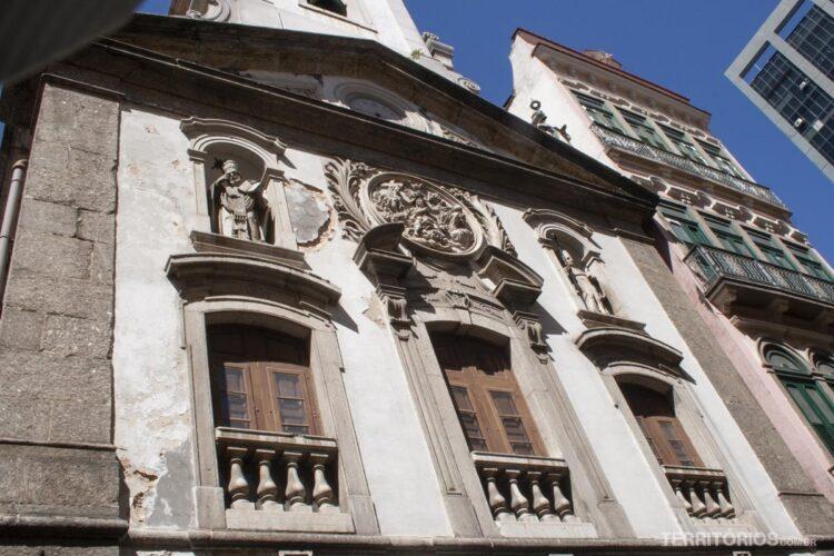 Arquitetura colonial no centro do Rio de Janeiro