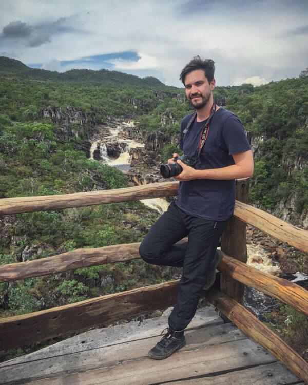 Rodolpho Reis gravando Rod Livre em Cambará do Sul
